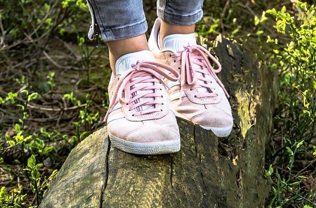 Sportowe buty sneakersy różowe