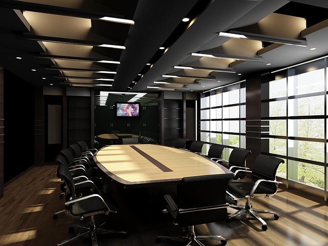 Wyposażona sala konferencyjna